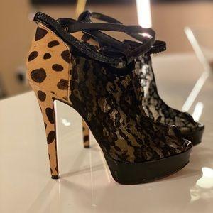 AuthCL Leopard Peep toe